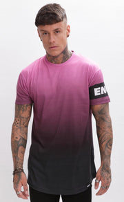ENUKI LONDON T-SHIRTS ENUKI - Sapporo Dip Dye T-Shirt - (Pink/Black)