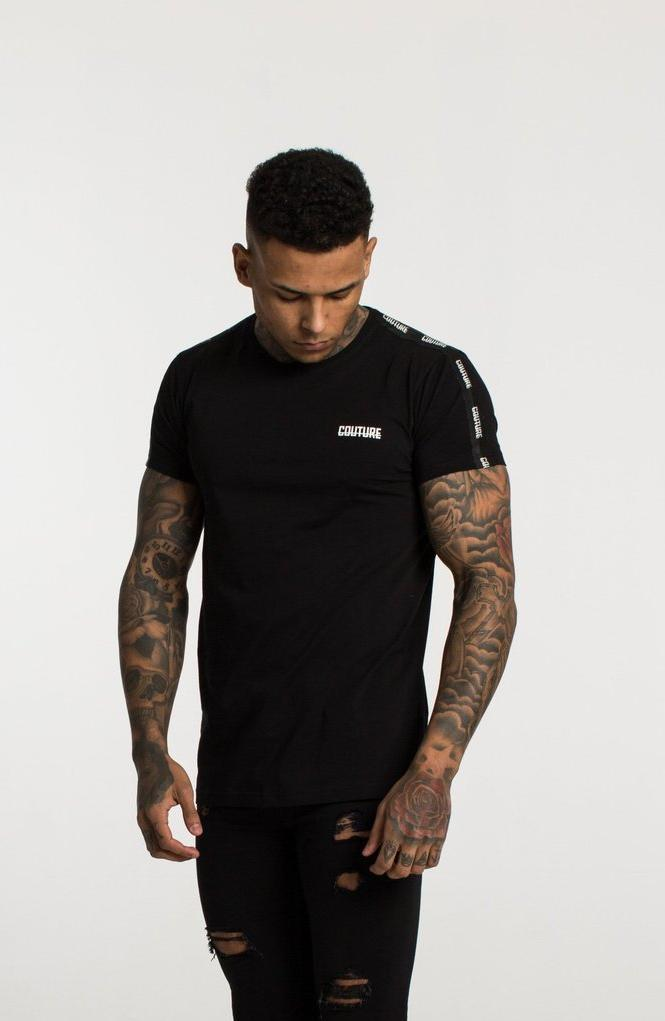 FRESH COUTURE T-SHIRTS BLACK - COUTURE TAPERED T SHIRT