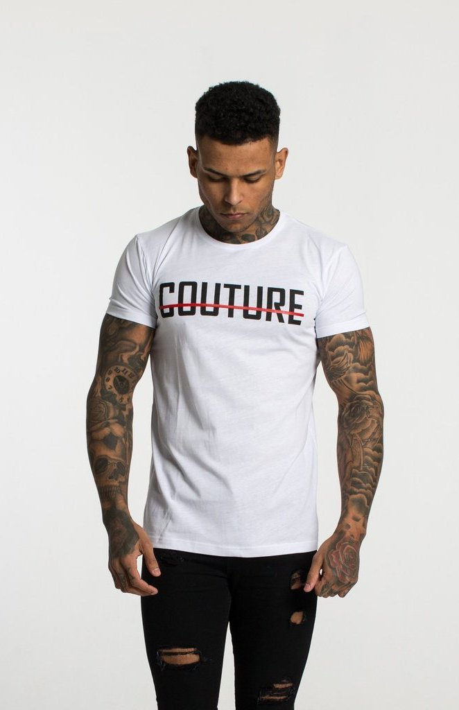 FRESH COUTURE T-SHIRTS FRESH COUTURE WHITE - LARGE LOGO T SHIRT