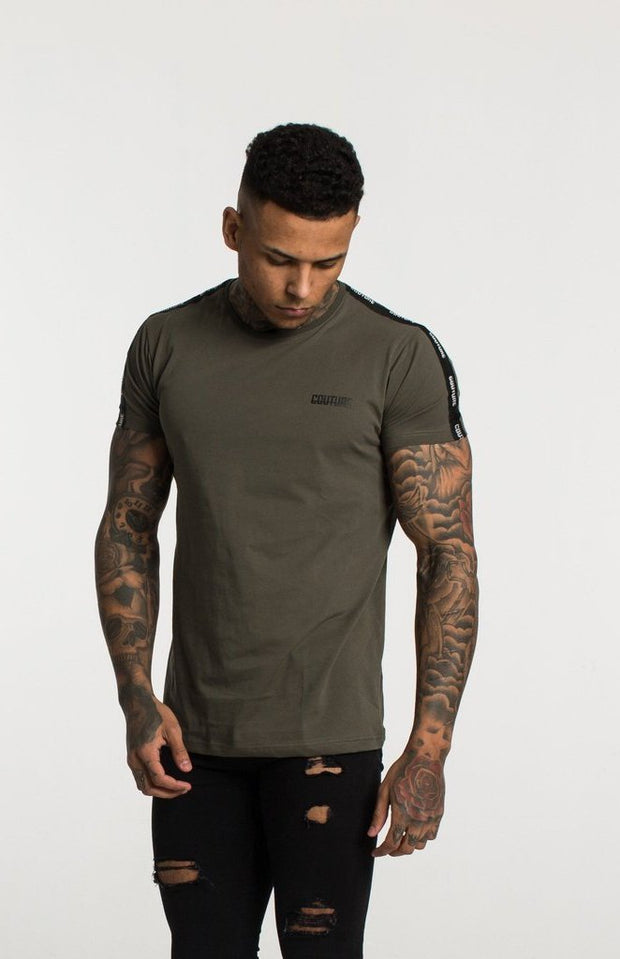 FRESH COUTURE T-SHIRTS KHAKI - COUTURE TAPERED T SHIRT
