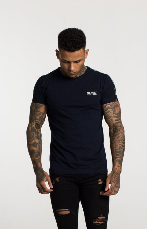 FRESH COUTURE T-SHIRTS NAVY -COUTURE TAPERED T SHIRT