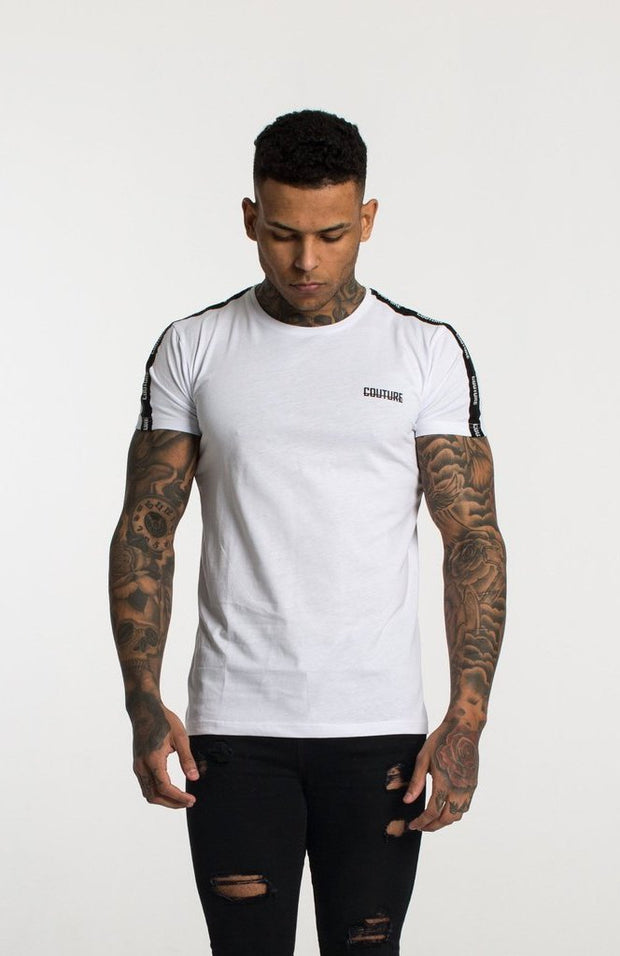 FRESH COUTURE T-SHIRTS WHITE -COUTURE TAPERED T SHIRT