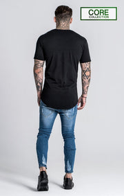 GIANNI KAVANAGH T-SHIRTS BLACK TEE CORE COLLECTION