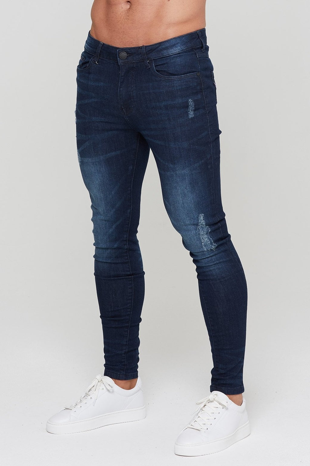 GOOD FOR NOTHING JEANS S-30 GOOD FOR NOTHING Fade Indigo Abrasion Denim