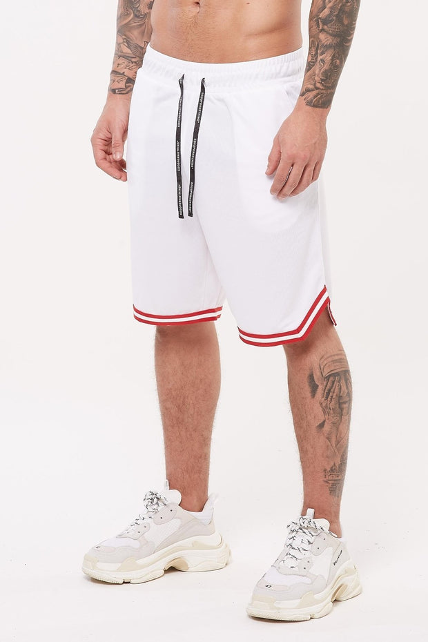 GOOD FOR NOTHING SHORTS GOOD FOR NOTHING Nothing White Basketball Short