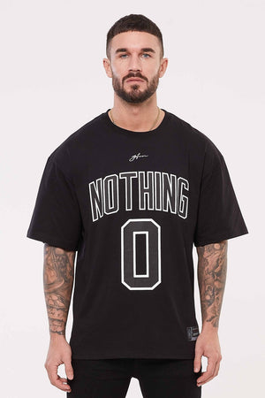 GOOD FOR NOTHING T-SHIRTS S GOOD FOR NOTHING Nothing Oversized Black Jersey