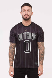 GOOD FOR NOTHING T-SHIRTS S GOOD FOR NOTHING Nothing Pinstripe Black Jersey