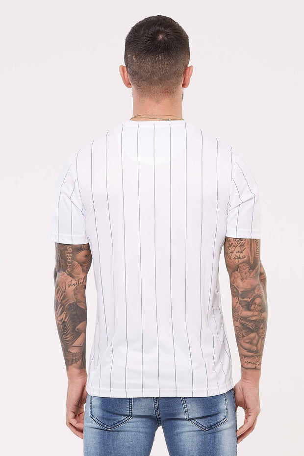 GOOD FOR NOTHING T-SHIRTS S GOOD FOR NOTHING Nothing Pinstripe White Jersey