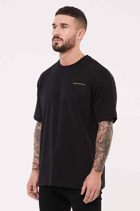 GOOD FOR NOTHING T-SHIRTS S GOOD FOR NOTHING Oversized Black T-shirt