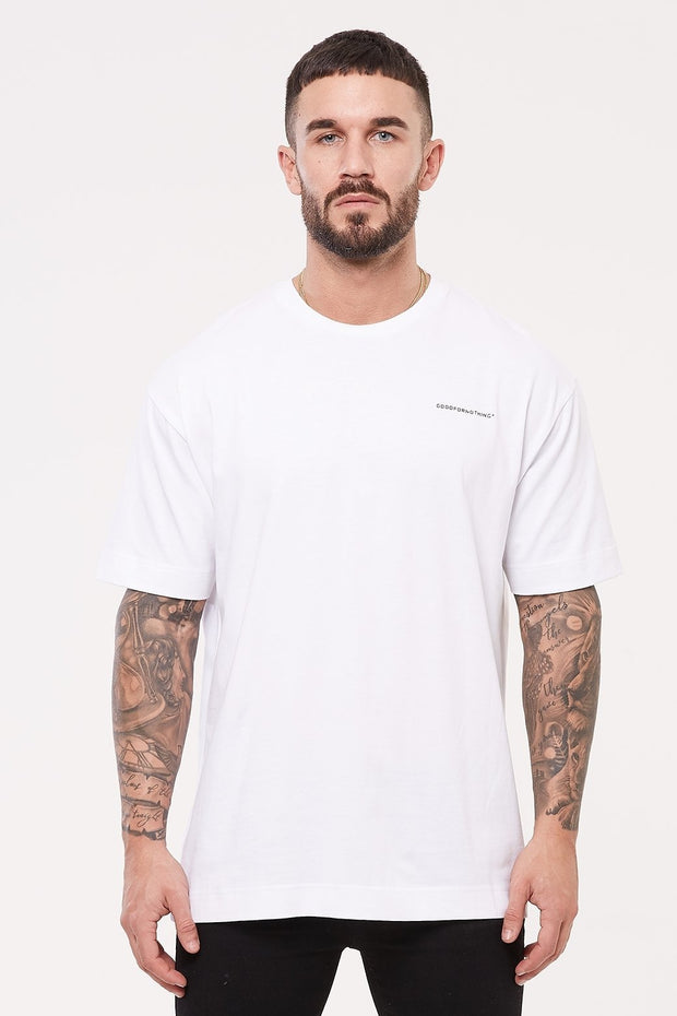 GOOD FOR NOTHING T-SHIRTS S GOOD FOR NOTHING Oversized White T-shirt