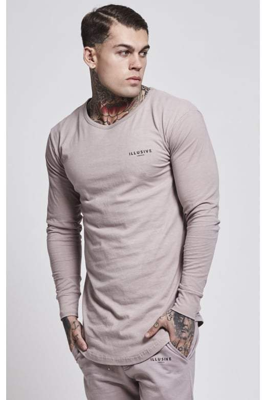ILLUSIVE LONDON T-SHIRTS ILLUSIVE LONDON Trident Long Sleeve Tee – Beige