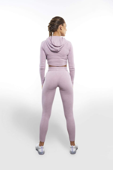 L COUTURE WOMEN'S HOODIE L COUTURE -LAVENDER COMFORT LUXE CROPPED HOODIE