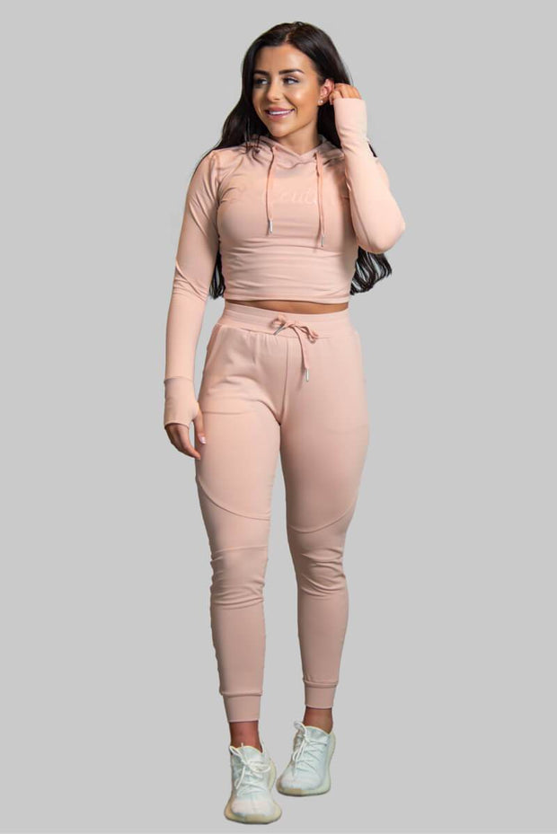 L COUTURE WOMENS TRACKSUIT BOTTOMS L COUTURE - BLUSH TRACK PANTS