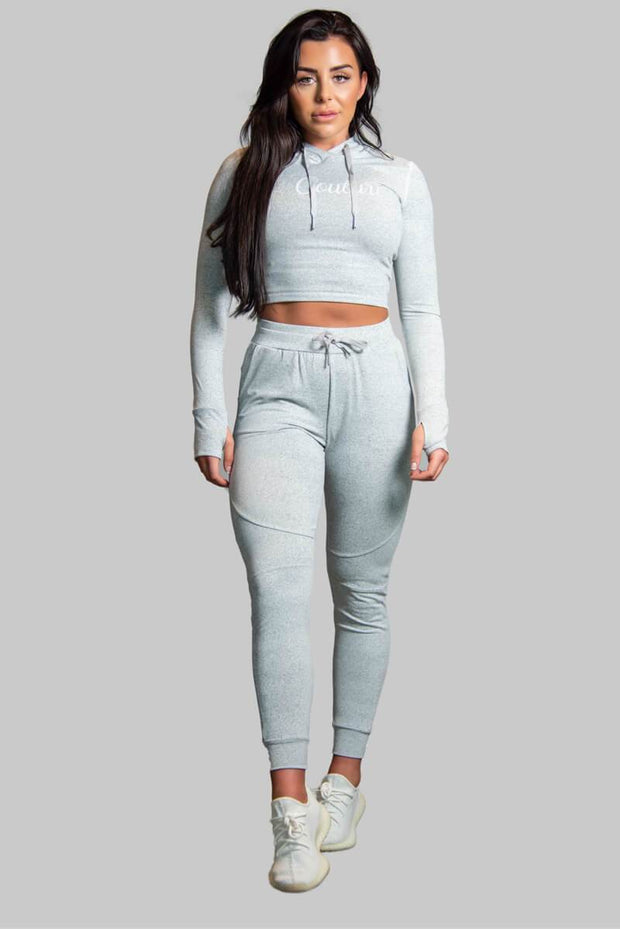 L COUTURE WOMENS TRACKSUIT BOTTOMS L COUTURE - GREY TRACK PANTS