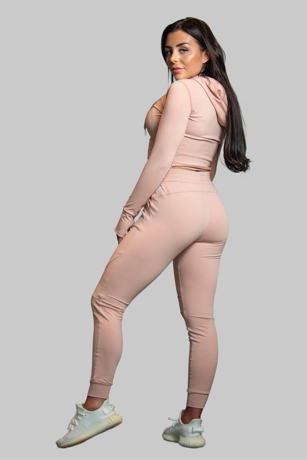 L COUTURE WOMENS TRACKSUIT TOP L-COUTURE -BLUSH TRACK TOP