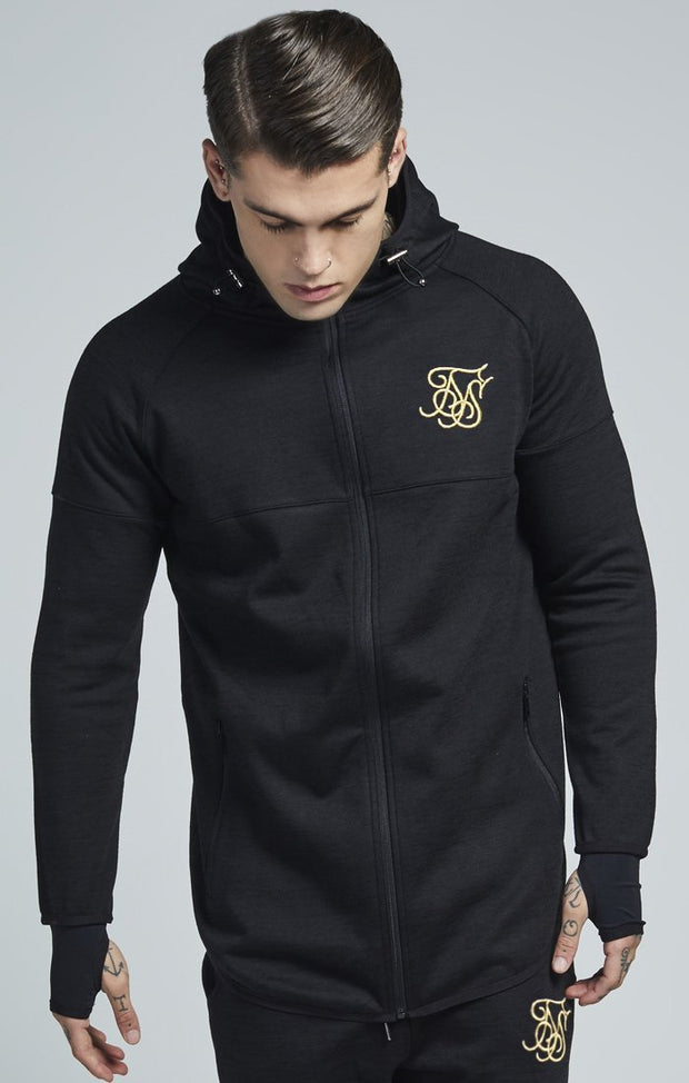SIK SILK HOODIES SikSilk Apex Zip Through Track Top – Black