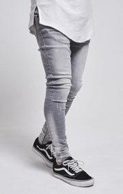 SIK SILK JEANS SikSilk Abrasion Hareem Jeans - Washed Grey