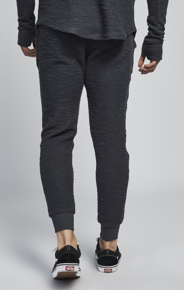 SIK SILK JOGGING PANTS SikSilk Reverse Flannel Jogger - Charcoal