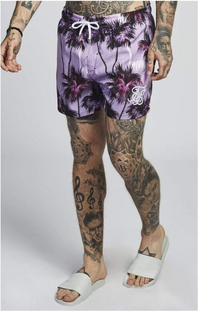 SIK SILK SHORTS SikSilk  Palm Rework Shorts – Deep Lilac