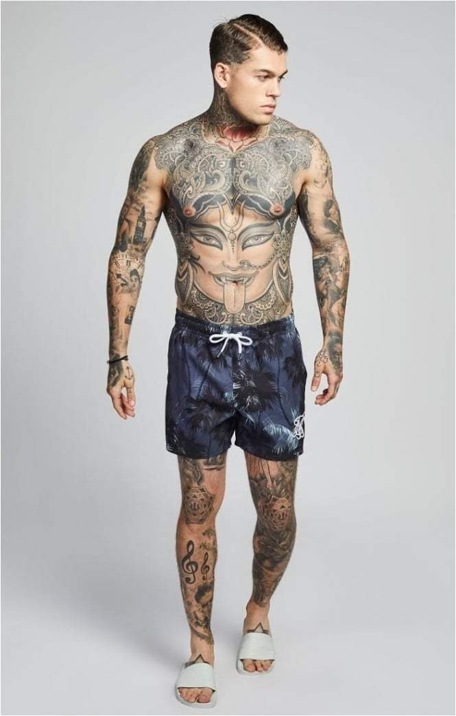 SIK SILK SHORTS SikSilk  Palm Rework Shorts – Deep Navy