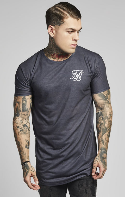 SIK SILK T-SHIRTS SikSilk  Curved Hem Racer Back Tee– Antique Rose