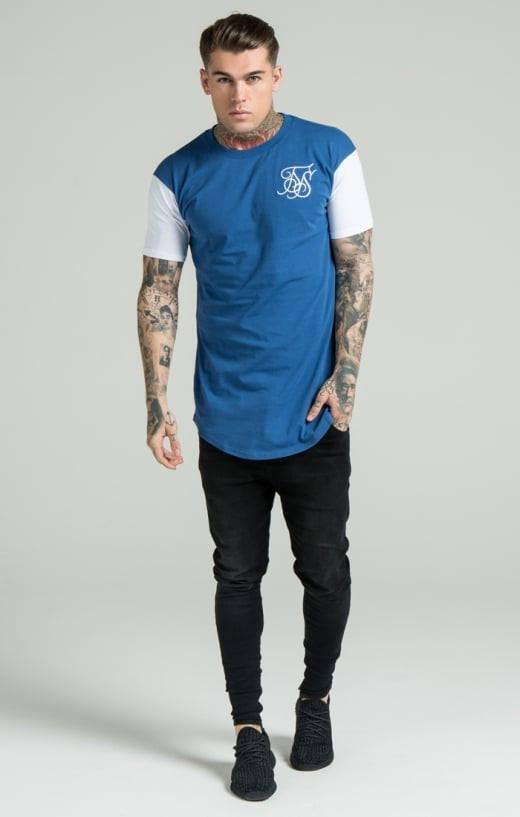 SIK SILK T-SHIRTS SikSilk Curved Hem Tee - Blue