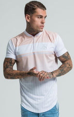 SIK SILK T-SHIRTS SikSilk Pastel Baseball Tee – Peach