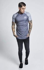 SIK SILK T -SHIRTS SikSilk Raglan Curved Hem Gym Tee – Grey