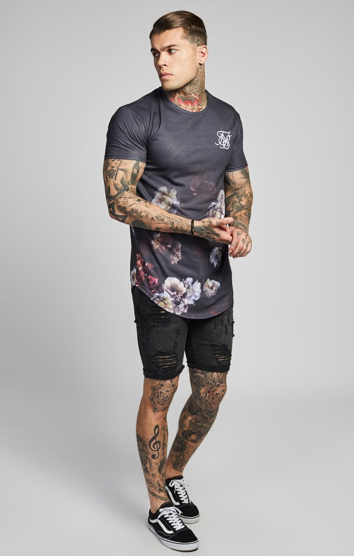 SIK SILK T-SHIRTS SikSilk  S/S Curved Hem Fade Tee – Antique Rose