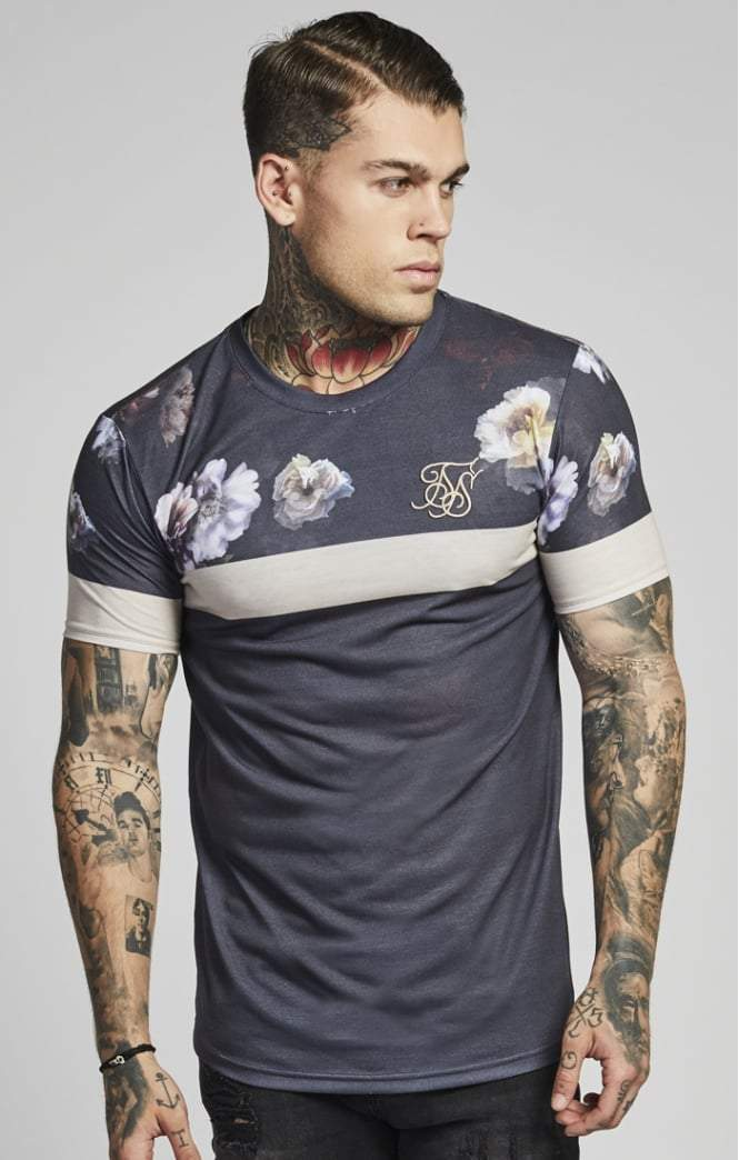 SIK SILK T-SHIRTS SikSilk  S/S Curved Hem Sports Tee – Antique Rose