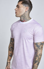 SIK SILK T-SHIRTS SikSilk  S/S Shadow Silk Curved Hem Tee – Pink