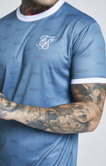 SIK SILK T-SHIRTS SikSilk  S/S Shadow Silk Curved Hem Tee – Teal