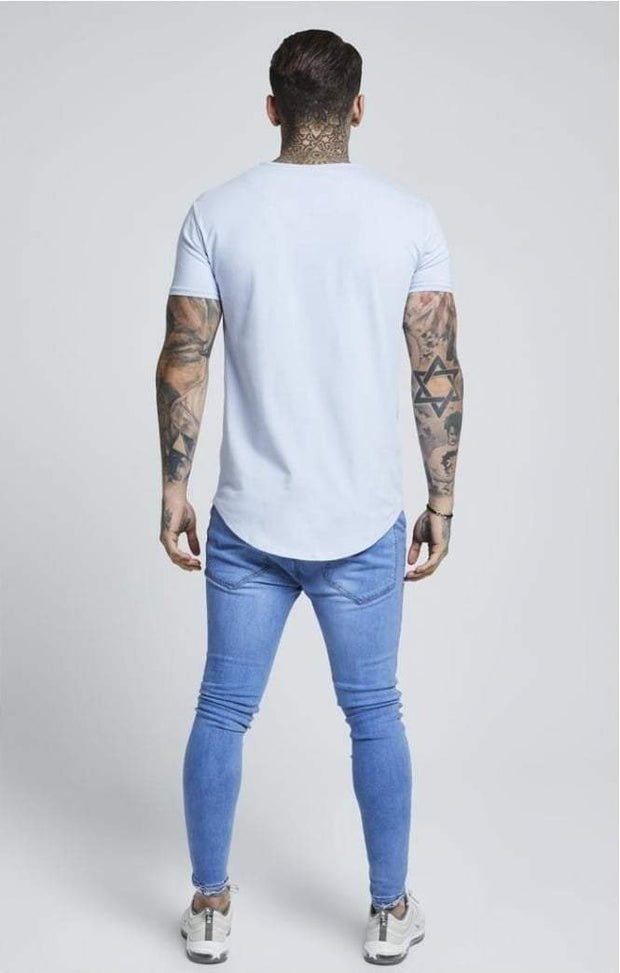 SIK SILK T-SHIRTS SikSilk  Short Sleeve Pastel Gym Tee – Pastel Blue