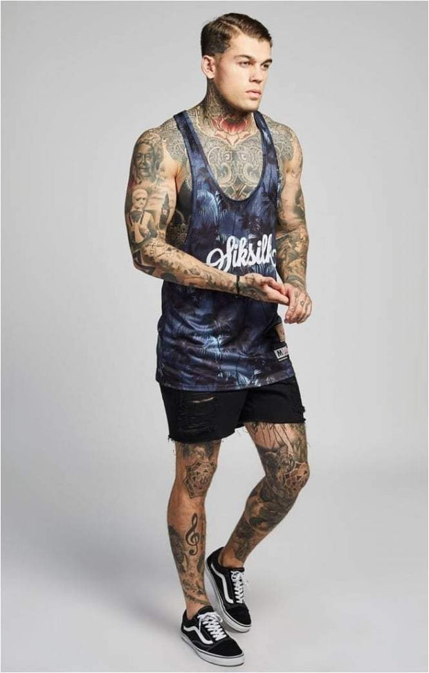 SIK SILK VESTS SikSilk  Palm Rework Poly Vest – Deep Navy