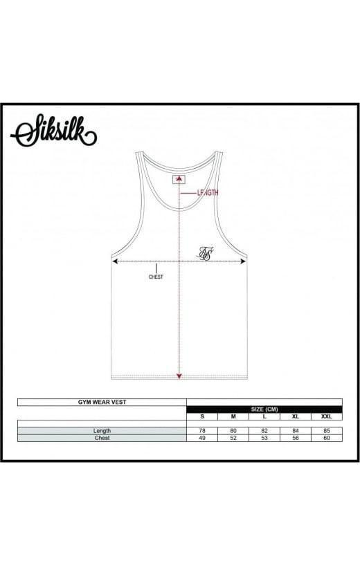 SIK SILK VESTS SikSilk Retro Gym Vest - White