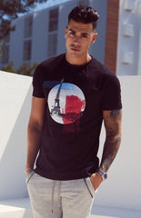SOCIETE NOIR T-SHIRTS NOIR Paris T-shirt • BLACK