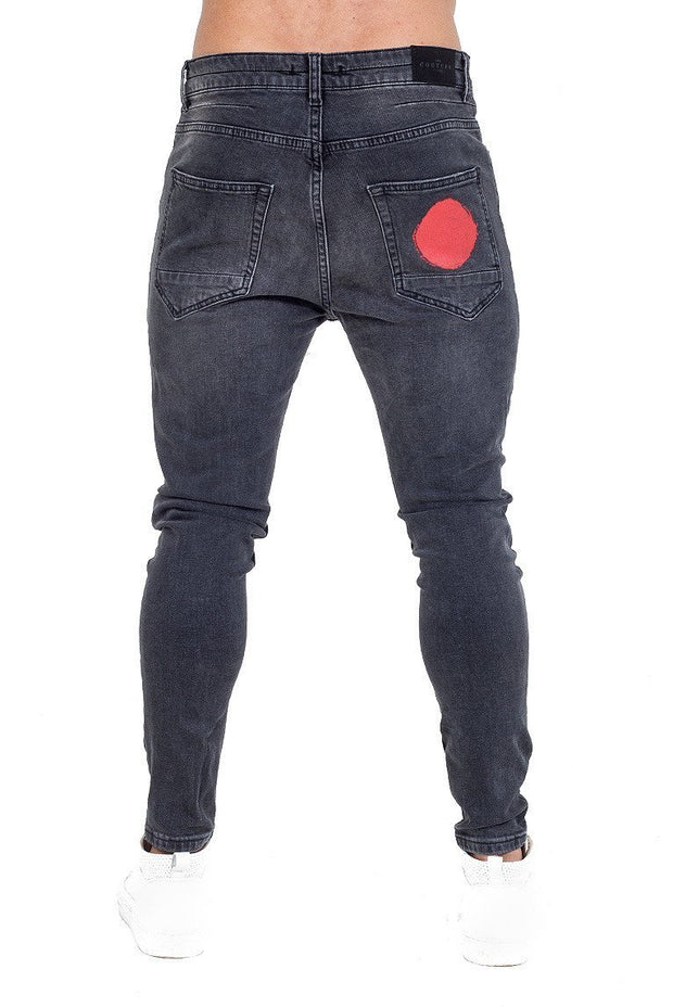 THE COUTURE CLUB JEANS THE COUTURE CLUB -MENS AOMORI JEAN | WASHED BLACK