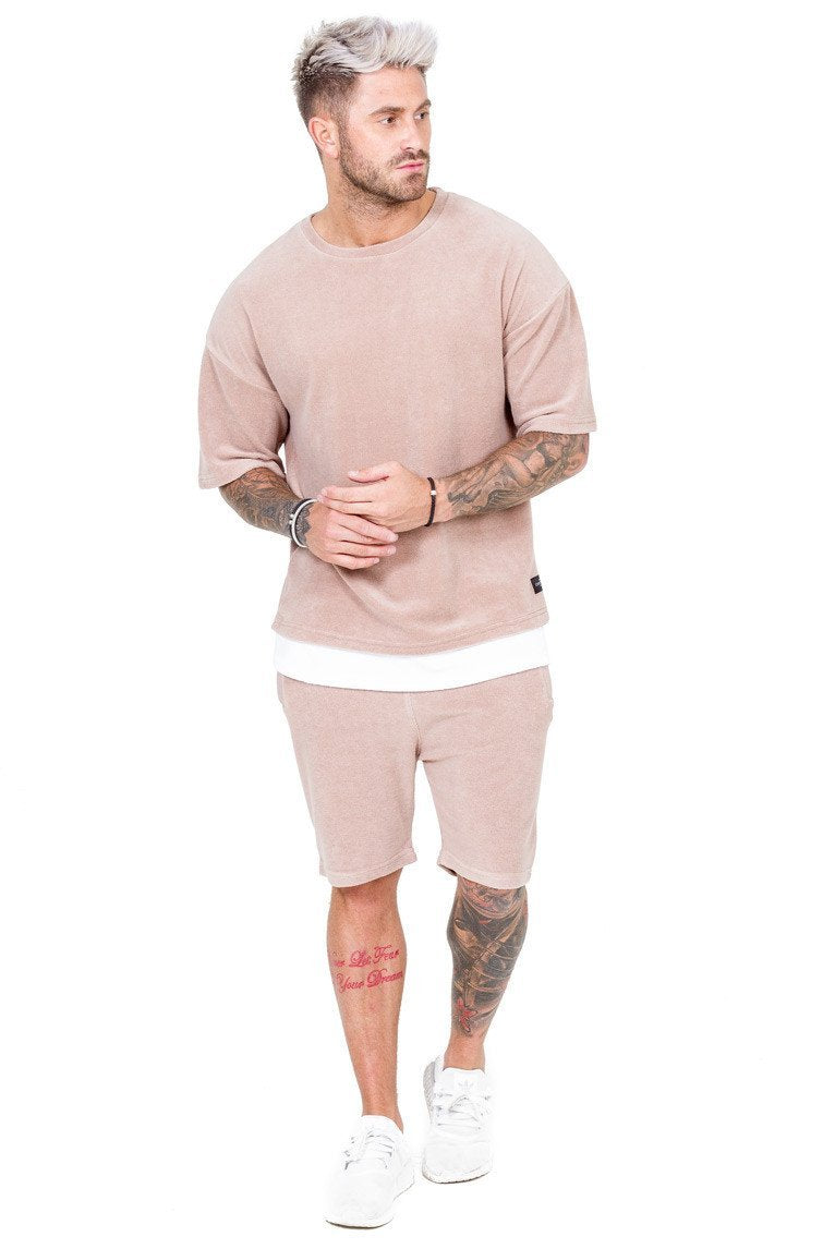 THE COUTURE CLUB SHORTS THE COUTURE CLUB -MENS NEWPORT SHORT 217 | DUSKY PINK