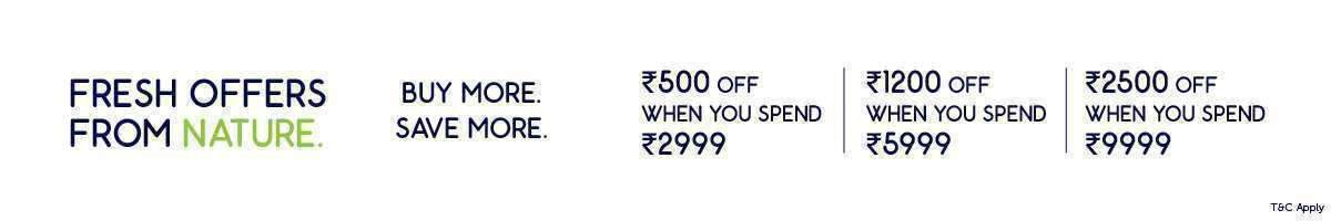 Offers On Fresh Shop Rs. 9999