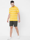Men's Cotton Mustard Regular Fit Tshirt Cottonworld Men's Tshirts