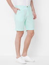 Men's Cotton Linen Aqua Regular Fit Shorts Cottonworld Men's Shorts