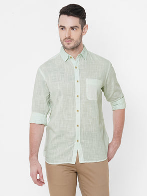 Men's Cotton Mint Regular Fit Shirt Cottonworld Men's Shirts