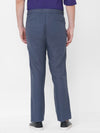 Men's Linen Steel Blue Regular Fit Pants Cottonworld Men's Pants