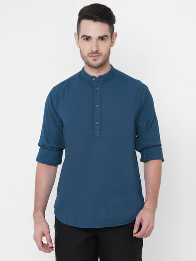 Men's Cotton Teal Regular Fit Shirt Cottonworld Men's Shirts