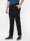 Men's Linen Black Regular Fit Pants Cottonworld Men's Pants