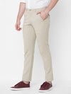 Men's Linen Viscose Khaki Slim Fit Pants Cottonworld Men's Pants