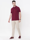 Men's Cotton Wine Regular Fit Tshirt Cottonworld Men's Tshirts