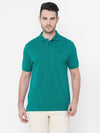 Men's Cotton Teal Regular Fit Tshirt Cottonworld Men's Tshirts