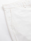 Men's Cotton Linen White Regular Fit Shorts Cottonworld Men's Shorts