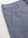 Men's Linen Viscose Navy Slim Fit Pants Cottonworld Men's Pants